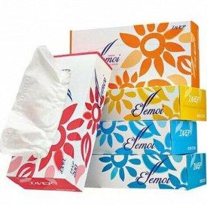 Бумажные двухслойные салфетки ELLEMOI 200 шт (спайка 5 пачек)
