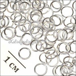Колечки соединительные железные, гальваническое покрытие цвета серебро, р-р 5х0.7мм