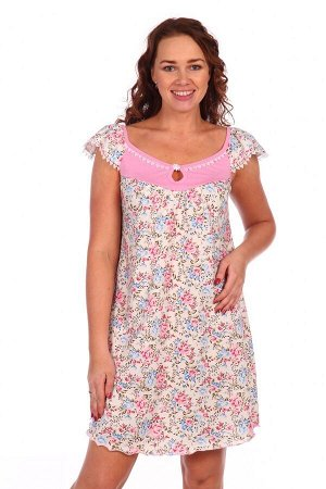 Сорочка Ромашка (Розовый)