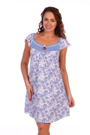 Сорочка Ромашка (Голубой)