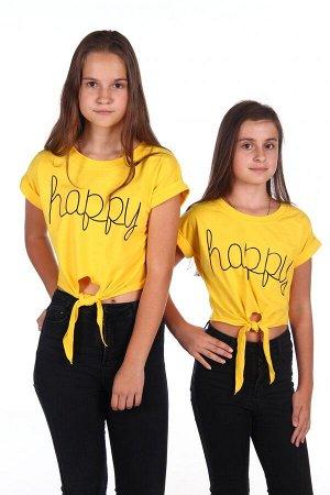 Футболка Happy (Желтый)