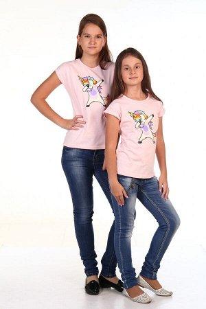 Футболка Deb Единорог (Розовый)