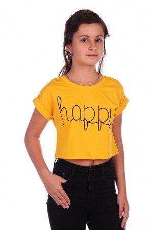 Футболка Happy-2 (Желтый)