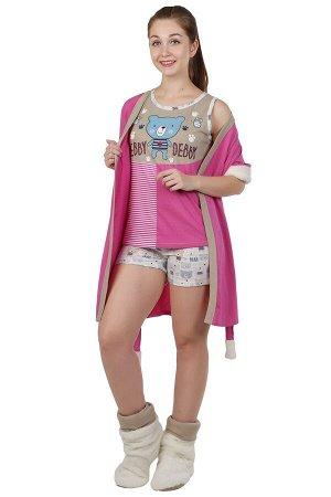 Комплект с халатом Kodey Цвет: Розовый, Бежевый. Производитель: TLG