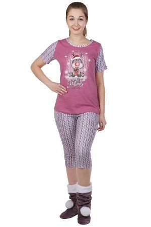 Пижама Kyler Цвет: Сухая Роза. Производитель: Оптима Трикотаж