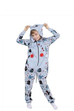 Пижама-кигуруми Белые Ночи Цвет Серый.