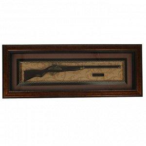 Ружье в раме, багет классика, охотничье, пули, 46х122 см