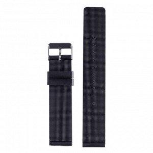 """Ремешок для часов """"Bugert"""" 18 мм, силикон, l=20 см, черный"""