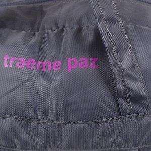 Сумка спортивная, отдел на молнии, 2 наружных кармана, цвет серый