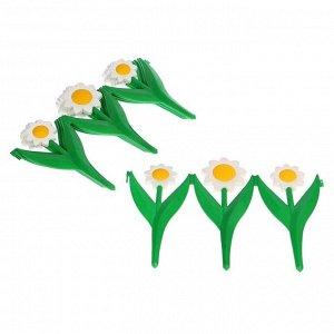 Ограждение декоративное, 32.5 ? 225 см, 5 секций, пластик, белый цветок «Ромашка»