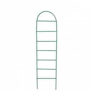 Шпалера, 167 ? 35 ? 1 см, металл, зелёная, «Лестница»