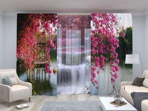 Комплект: Цветы в китайском парке + Тайский водопад