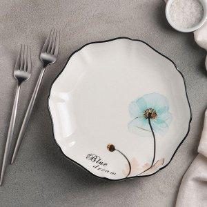 Тарелка обеденная «Голубая мечта», 21,5?4 см