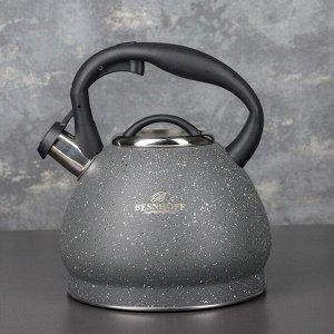 Чайник со свистком «Альпы», 3 л, индукция, цвет серый