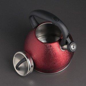 Чайник со свистком «Альпы», 3 л, индукция, цвет МИКС