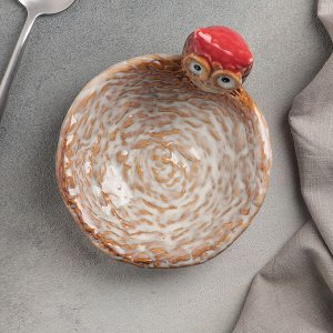 Блюдо сервировочное «Совунья», 14,5?13?8 см, цвет хохолка красный