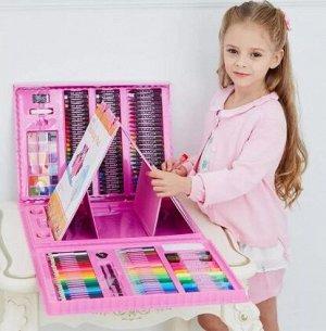 Набор для рисования с мольбертом, розовый