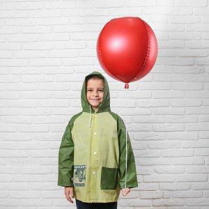 """Дождевик детский на кнопках с капюшоном """"Защитный цвет"""" р-р S"""
