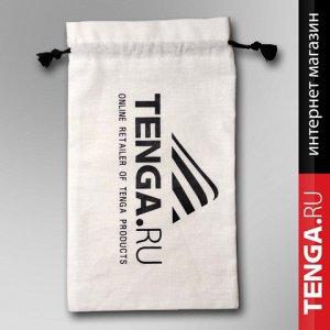 Мешочек для подарка, 15х25, белый, логотип tenga.ru