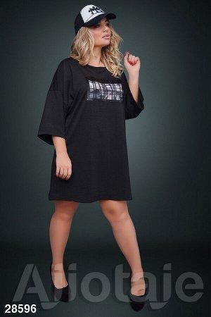 Платье-туника в стиле oversize черного цвета