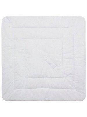 """Конверт-одеяло на выписку """"Пингвиночка в очках"""" (белое, принт без кружева)"""