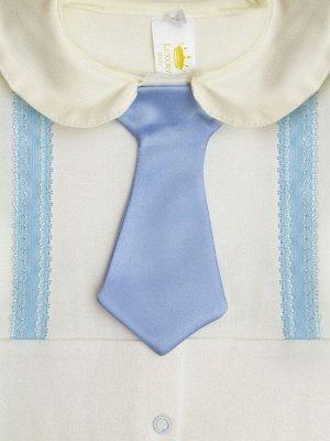 """Комплект на выписку """"Денди"""" Комбинезон с галстуком и чепчиком"""