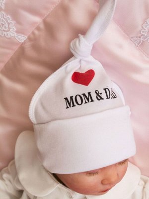 "Шапочка с принтом ""I Love Mom and Dad"""