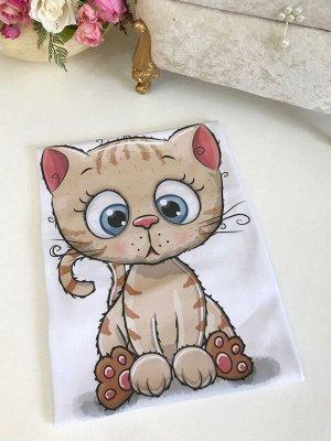 """Трикотажный плед """"Котик"""""""
