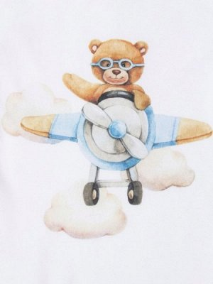 """Трикотажный плед """"Мишка-пилот"""""""