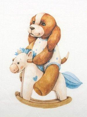 "Шапочка с принтом ""Собачка на качалке"""