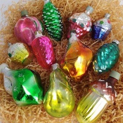 Рожденным в СССР посвящается! Ёлочные игрушки 1988 год — Шишки, фрукты, корзинки и ракушки — Все для Нового года