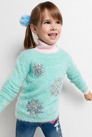 Джемпер детский для девочек Venezia светло-бирюзовый