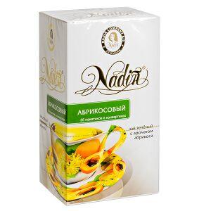 Чай чай NADIN 'Абрикосовый' 25 пакетиков Чай зелёный с ароматом абрикоса.