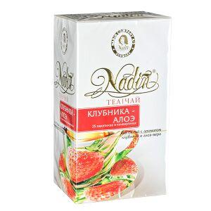 Чай чай NADIN 'Весенний цветок' 25 пакетиков Чай зелёный мелкий с ароматом клубники и маракуйи.