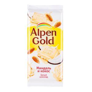 Шоколад Альпен Гольд Миндаль и Кокос 85 г 1 уп.х 21 шт.