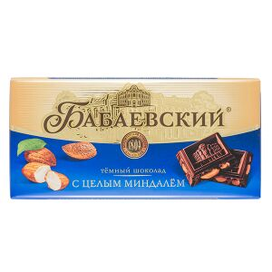 Шоколад Бабаевский Цельный Миндаль 200 г 1 уп.х 14 шт.