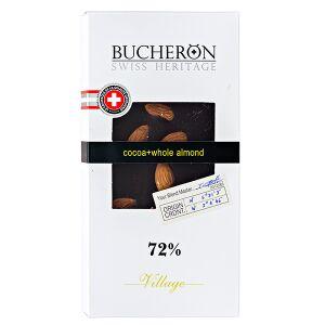 Шоколад BUCHERON VILLAGE 72% Миндаль 100 г 1уп.х 10шт.