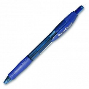 Ручка шариковая Nature Ocean, арт.710022/10 цвет чернил синий, корпус син. с резин. вставкой, автом., метал. игольчатый након., диаметр шарика 0,7мм