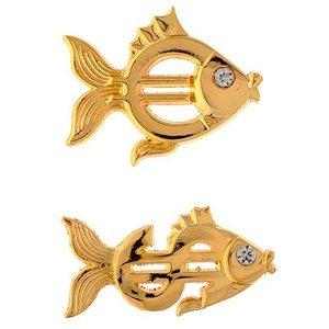 """Магнит """"Золотая рыбка"""", L3,5 W0,8 H5,2 см, 2 в."""
