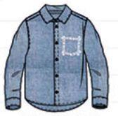 Рубашка джинсовая Coccodrillo, д/мальчика