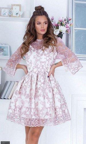 Платье 439711-3 пудра Весна 2019 Украина