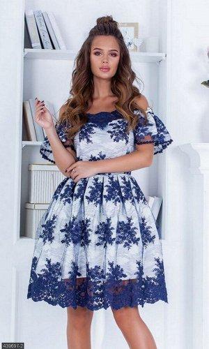 Платье 439697-2 синий Весна 2019 Украина