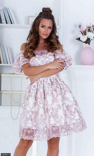 Платье 439697-1 пудра Весна 2019 Украина