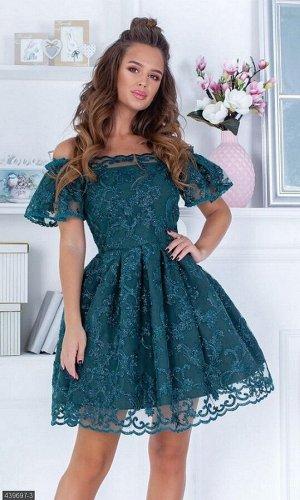Платье 439697-3 зеленый Весна 2019 Украина