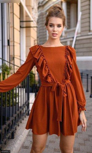 Платье 439493-1 терракот Осень-Зима 2019 Украина