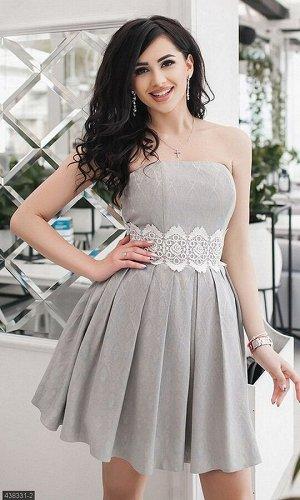 Платье 438331-2 серый Весна-Лето Украина