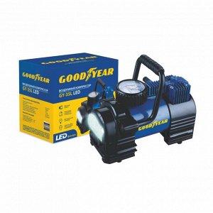 Компрессор Goodyear GY-30L 30 л/мин с фонарем со сьемной ручкой, сумка для хранения GY000103