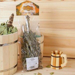 Веник для бани 45 (+-5) см ТРАВЯНОЙ из мяты, в индивидуальной упаковке