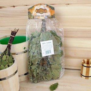 Веник для бани дубовый, 55 см с букетом из трав