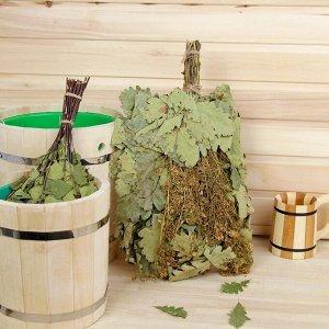 Веник для бани дубовый, 55 см с донником